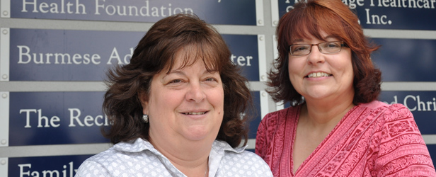 Terri Roberts, RN, Faculty and Clinical Instructor for the University and Loaine Hagerty, Foundation's Community Initiatives Manager who oversees the Healthy Homes program.