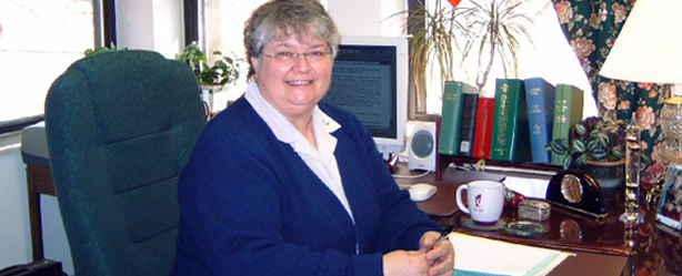 Sister Kate Kuenstler in her Rhode Island office