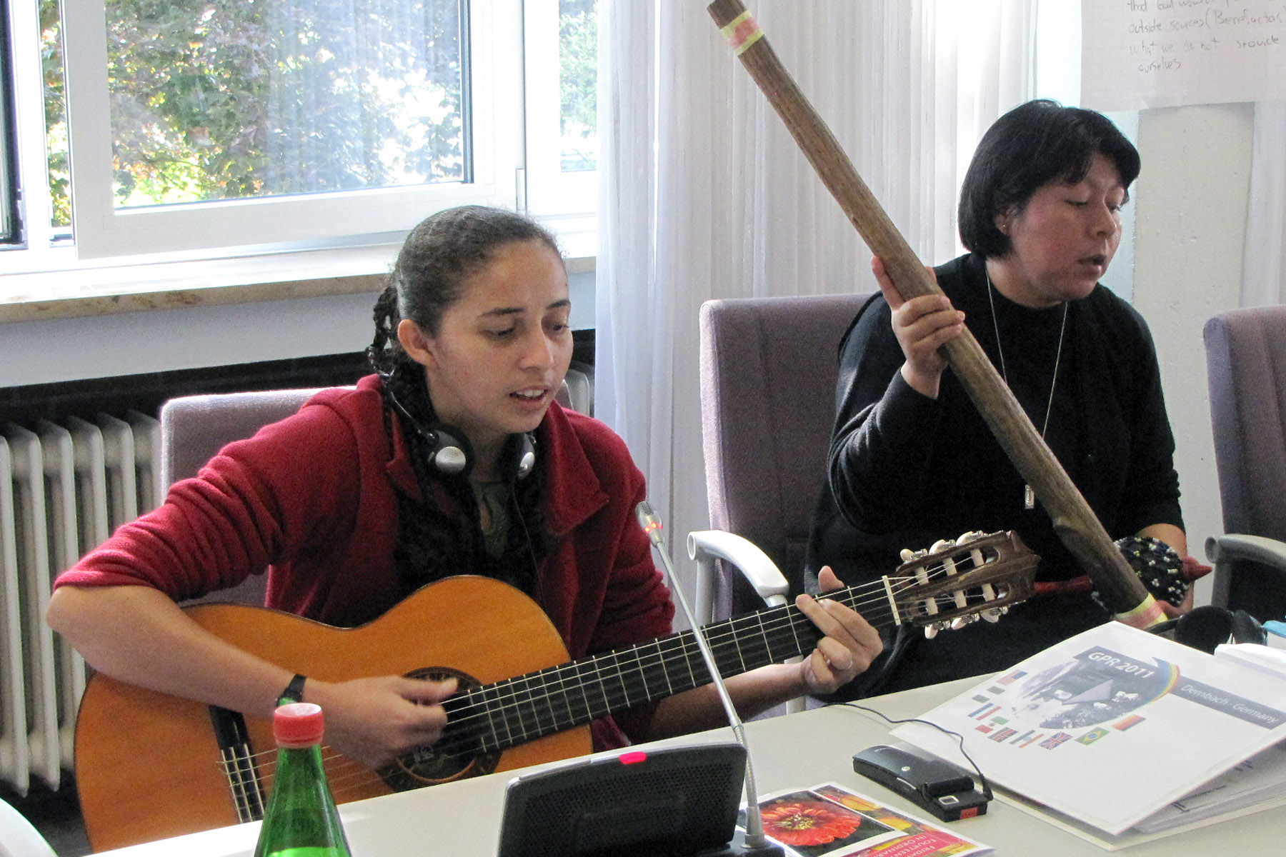 Sister Magna (left) and Sister Elvia (right) perform a song together during the 2011 GPR.