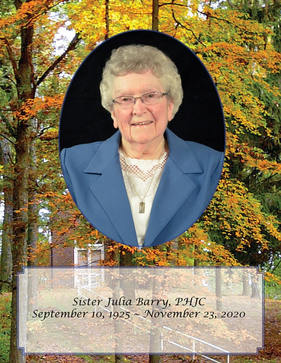 In Memory of Sister Julia Barry, PHJC